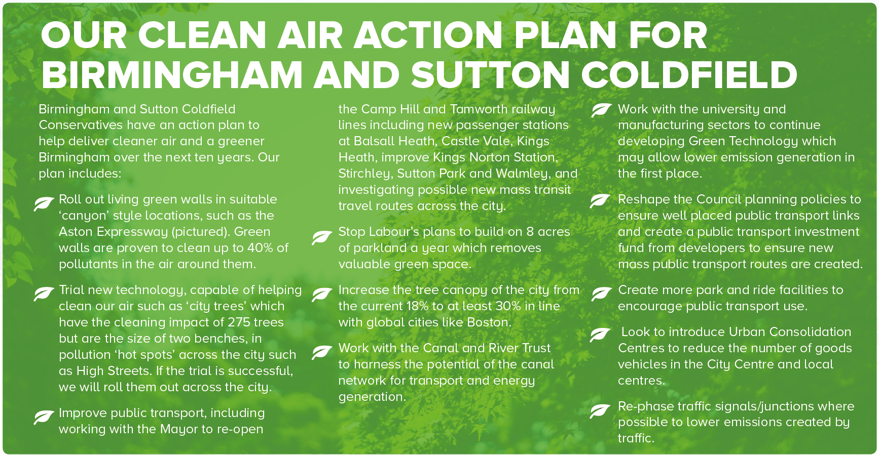 Our Clean Air Plan for Birmingham