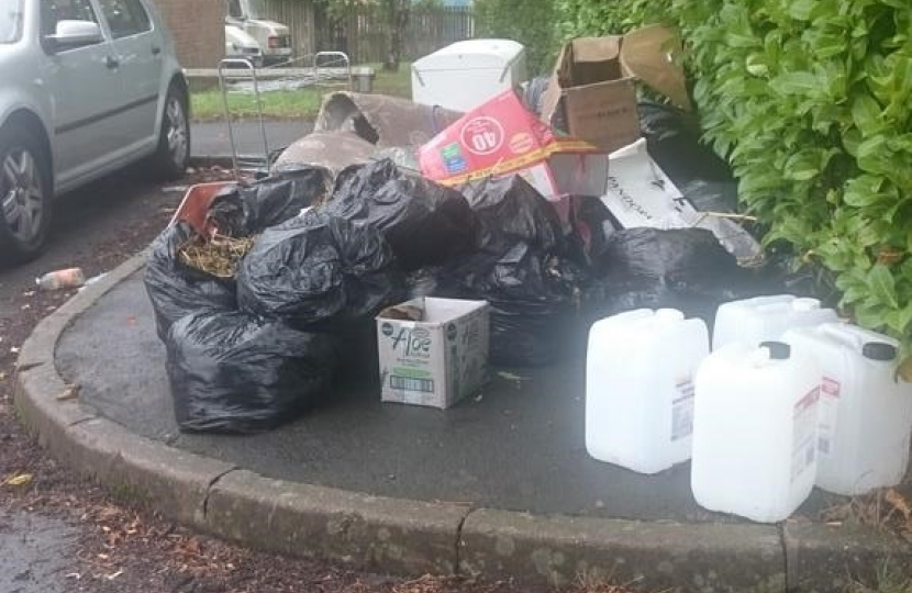 Uncollected waste in Aston