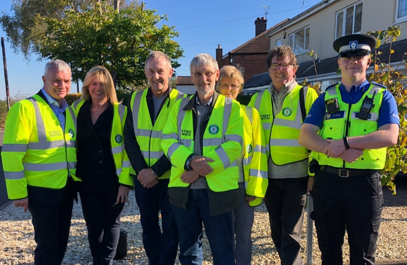 Community Speed watch campaign on Lindridge Road