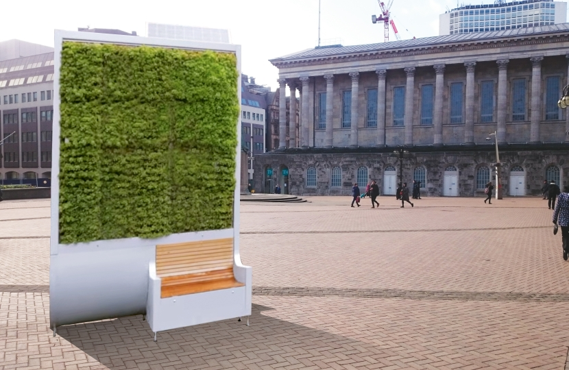 mock up of a 'city tree' bench in victoria square