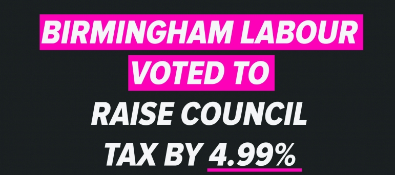 Council Tax is going up 4.99%